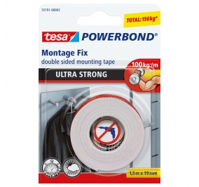 BIADESIVO ULTRA STRONG POWERBOND Formato mm 19x1,5 m